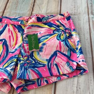 Lilly Pulitzer Shorts - Lilly Pulitzer Pink Sunset Pattern Shorts
